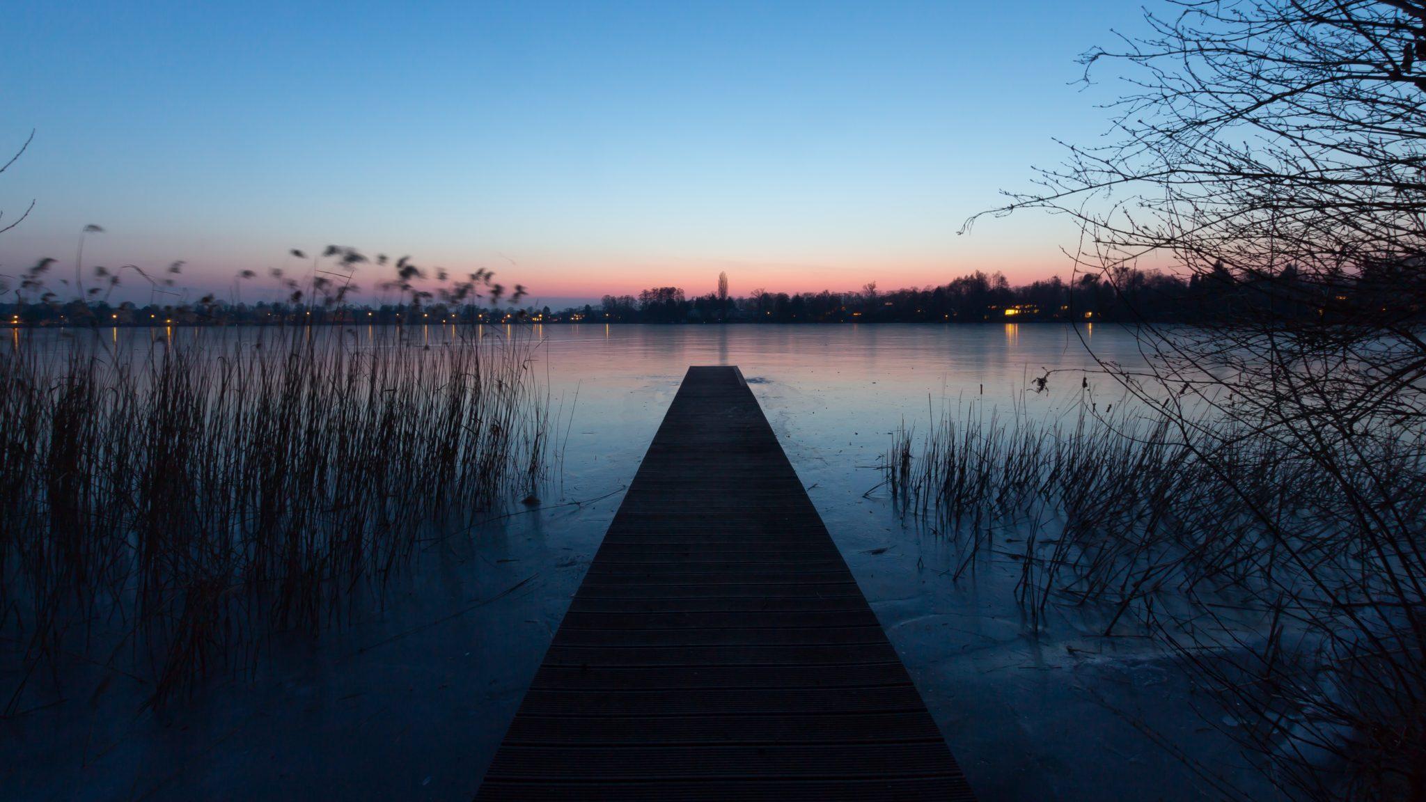 Blaue Stunde am Heiligensee